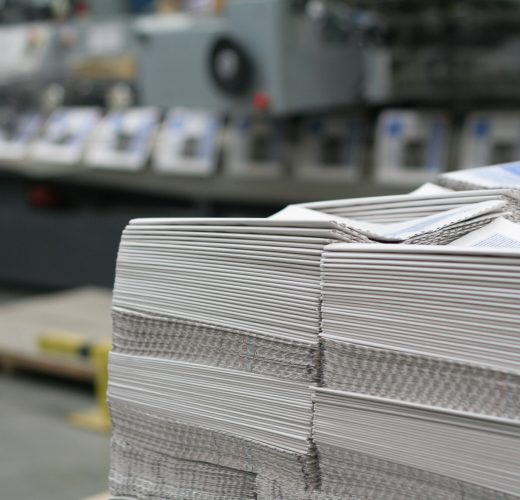 newspapers in printing plant