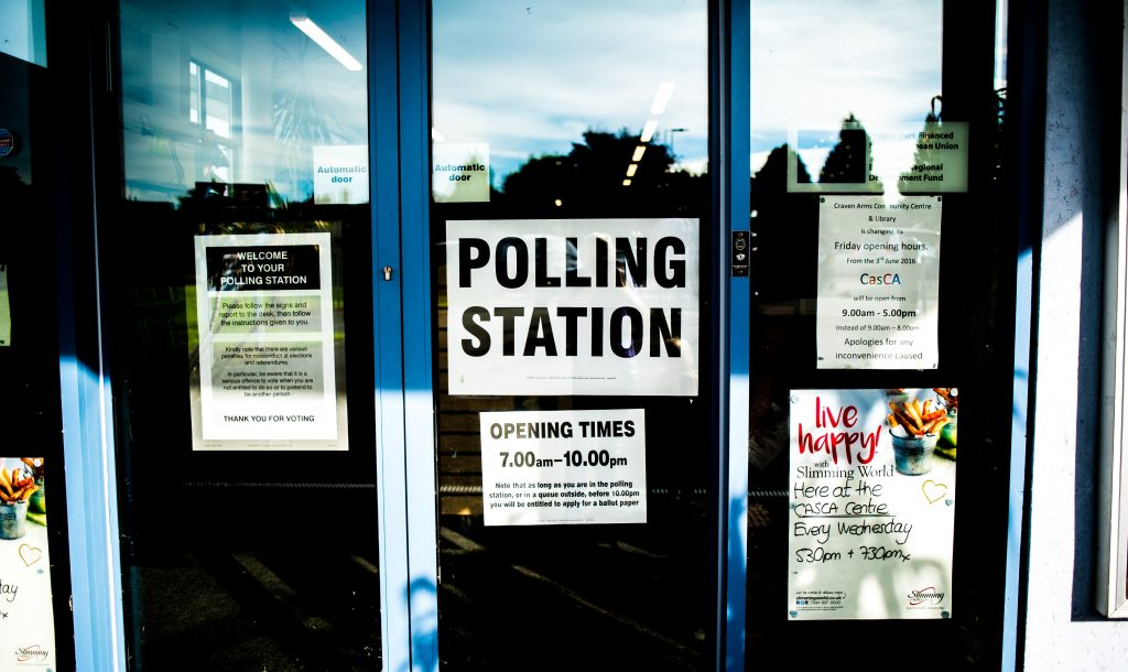 North West Local Elections Polling Station