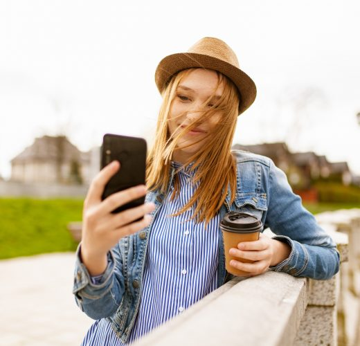 Girl taking a selfie influencer marketing guide